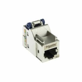 Connecteur RJ45, cat 6a Femelle Montage sur câble droit SCHNEIDER ACTASSI