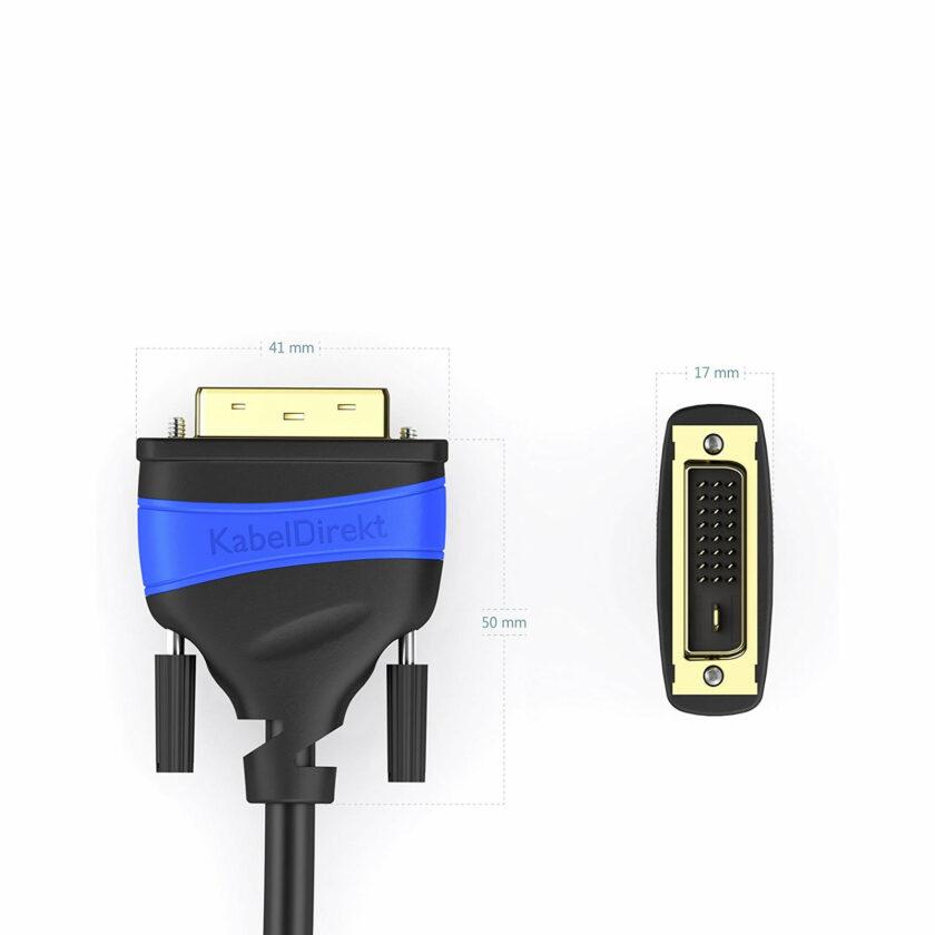 Câble DVI-D Single Link mâle / HDMI mâle (2 mètres)